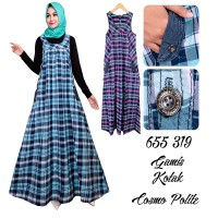 Dress Muslim kotak kotak  adore