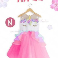 Dress Anak Unicorn Pink Cantik