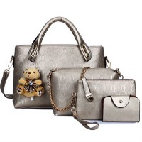 [MH] BB02 BEST SELLER  TAS DOLLY 4IN1 SET IMPORT BAG OFFICE SLING BAG POUCH WITH TEDDY BEAR CHARM