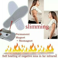 Self heating insoles warm natural tourmaline massage / sandal kesehatan