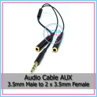 Audio Cable - Kabel AUX 3.5mm Male Jack to 2 x 3.5mm Female Jack