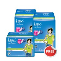 Buy 2 Get 1 Free - Kotex Soft & Smooth Slim Non Wing (20 pcs)