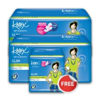 Buy 2 Get 1 Free - Kotex Soft & Smooth Slim Wing (16 pcs)