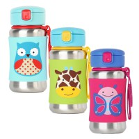 Skiphop Zoo Stainless Sport Bottle Butterfly / Dog / Girrafe / Owl