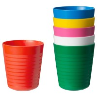 KALAS new colour Mug/gelas aneka warna per set isi 6pcs