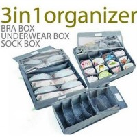 3in1 Fiber Underwear Bra Box Set - Abu Abu