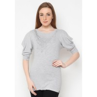 Mobile Power Ladies Printing T-Shirt - Grey D6639