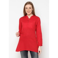 Mobile Power Ladies Basic Tunic Pleats - Red D8336
