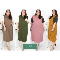 BAJU BIGSIZE MURAH - DRESS JULYA JUMBO (1613-DS)