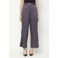 Mobile Power Ladies Striped Long Pants Cullotes - Purple N1001