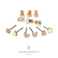 cocoa jewelry Anting SET Wanita Korea - Moon Star Gold Color