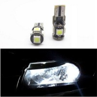 Lampu LED Mobil / Motor / Senja / Wedge Side - T10 Canbus 5 SMD 5050 - White