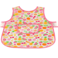 Luvable Friends Easy Clean Baby Apron Bib - Pink