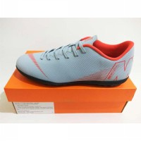 Sepatu Futsal Nike Vapor 12 Club TF AH7386 060 Wolf Grey Lite Crimson Black Original