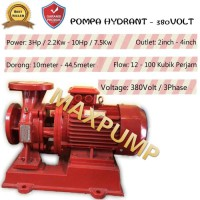 Pompa hydrant mesin pompa air 3in 7.5hp 50 kubik 3 phase pompa dorong