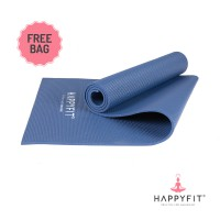 HAPPYFIT MATRAS YOGA 8MM ROYAL BLUE(GRATIS TAS)PVC MAT ANTISLIP FREE BAG
