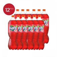 Fanta Rasa Strawberry 390 ml Isi 12 botol