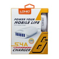Adapter Charger Ldnio 6 Output Port usb
