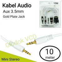 Headset Kabel Audio Aux 3.5mm 10M / Mini Stereo Cable 10 meter