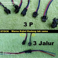 Headset Konektor Sambung DC kabel SM 3 pin jalur Socket kabel male female 3P