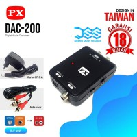 Headset Audio Converter RCA to Digital Optical PX DAC 200
