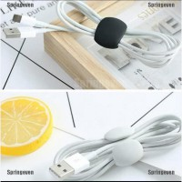 Tidy clip cable karet silicone kabel organizer 4pc