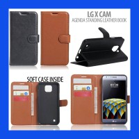 LG X Cam Agenda Standing Leather Book Casing Cover