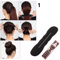 Tatanan Rambut Magic Bun Maker Foam Sponge Bun Shaper Hair Accessories