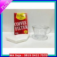#Coffee & Tea Maker Paket V60 flat transparant + coffee filter for 1-2 cups