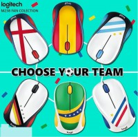 Mouse Wireless Logitech Fans Collection Bola Piala Dunia