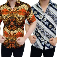 Kemeja Batik Fashion Slimfit Kantor / Semi Formal / Formal Cotton Size M L XL