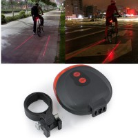 Bicycle Laser Strobe Taillight 5 LED / Lampu LED Sepeda