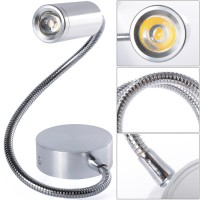 Lampu Baca White Led Wall Light With Flexible Arm Switches Reading Lamp 3w -LD527
