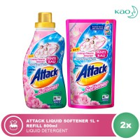 ATTACK Liquid Plus Softener 1000ml + 800ml