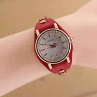 Jam Tangan Fossil Ladies Combo Leather Red