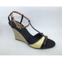WOVEN CONTRAST CHARLES AND KEITH WEDGES