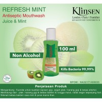 Klinsen Antiseptic Mouthwash Juice Mint-Refresh 100 ml - Obat Kumur