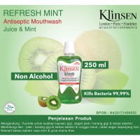 Klinsen Antiseptic Mouthwash Juice Mint-Cooling Sensitive 250 ml - Obat Kumur