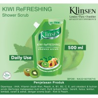 Klinsen Shower Scrub Kiwi Refreshing 500 ml