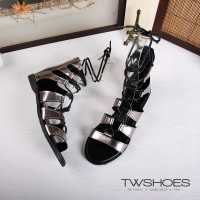 harga [TW Shoes] after MIT Rome braided cross straps Gaotong zipper flat sandals] [K132AF6001 elevenia.co.id