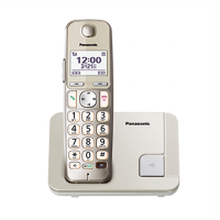 Panasonic Cordless Phone KX-TGE210 Wireless Telephone - Speakerphone - Silver