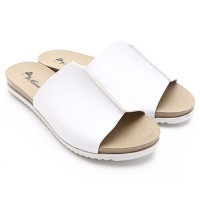 Dr.Kevin Ladies Flat Sandals 27330 White