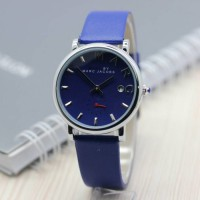Jam Tangan Marc Jacobs SK407 Leather Blue Silver