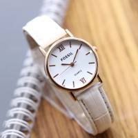 Jam Tangan Fossil SK345 Leather White
