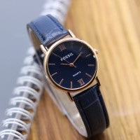 Jam Tangan Fossil SK345 Leather Blue