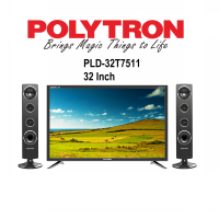 POLYTRON TV LED 32 INCH TYPE 32T7511 + TOWER SPEAKER