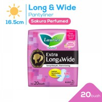 Laurier Pantyliner Extra Long n Wide Sakura Perfumed 20S