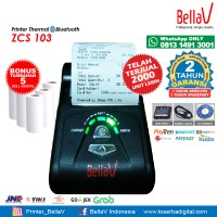 Printer Bluetooth Thermal ZCS 103 support Paytren Kudo I reap + 5 Roll Kertas