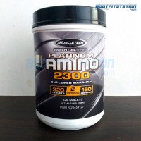 MuscleTech Platinum Amino 2300 320 Tablets - asam acid fit fitness gym muscle otot recovery sup