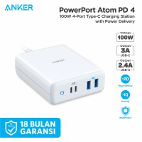 Wall Charger Anker PowerPort Atom PD 4 White - A2041